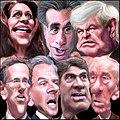 GOP Presidential Debate December 15, 2011 in Sioux City, Iowa caricatures.jpg