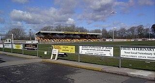 Galabank stadium in Dumfries and Galloway, Scotland, UK