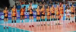 Galatasaray Stambul women volleyball 2017 March.jpg