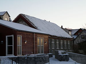 Education in the Faroe Islands - Schools in the villages around the islands were not common until late 19th century. This is the first school in Sørvágur, built from 1885–87 (the stone building). Now it houses the Music School of Vágar island.