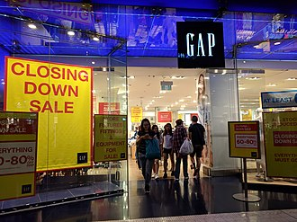 Gap Inc. - The closing down sale at the Gap store in Westfield Sydney
