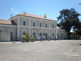Aubenas - The train station of Aubenas