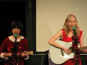 Garfunkel and Oates - Performing at their Christmas show, December 2009