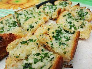 Garlic bread - Image: Garlicbread