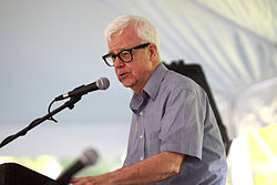 Gary North speaking at Ron Paul's annual BBQ.jpg