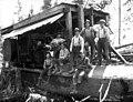 Gas donkey engine and crew, Sunset Timber Company, Washington, ca 1920 (KINSEY 2578).jpeg