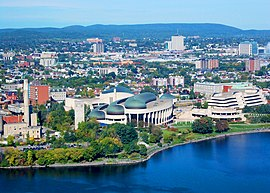 Gatineau (view from the Peace Tower of Parliament Centre Block).JPG