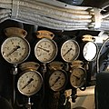 Gauges and cables inside submarine Vesikko CV707.jpg