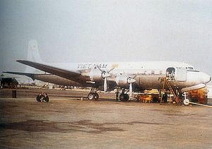 Tan Son Nhut Air Base - Douglas DC-6B VIP Transport – SVNAF 314th Special Missions Squadron – Tan Son Nhut Air Base