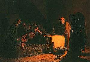 Sergey Lvovich Levitsky - The Last Supper, by Nikolai Ge,1863