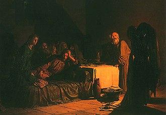 Sergey Lvovich Levitsky - The Last Supper, by Nikolai Ge,1863