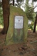 Memorial stone for Franz Dziebko