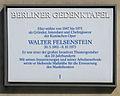 Gedenktafel Behrenstr 55-56 (Mitte) Walter Felsenstein.JPG