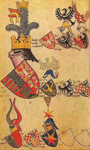Coat of arms of Dalmatia - Image: Gelre Folio 52v