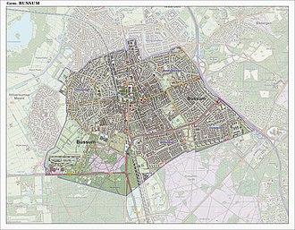 Bussum - Map of the former municipality of Bussum, June 2015
