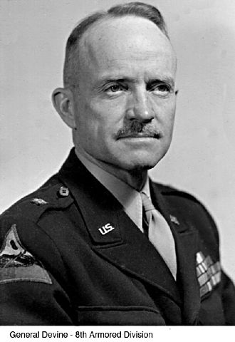 8th Armored Division (United States) - Major General John Devine