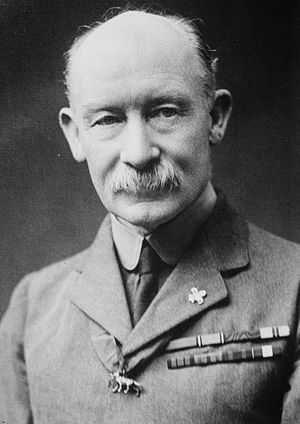 Robert Baden-Powell founder of the Scout Movement.