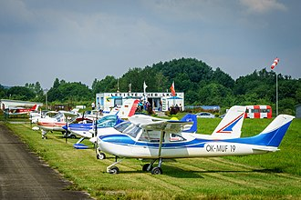 General aviation - General aviation aircraft at Cheb Airport