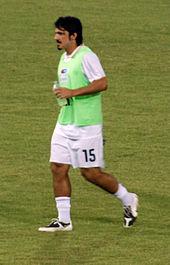 Gattuso durante il riscaldamento prima della partita Cipro-Italia del 6 settembre 2008