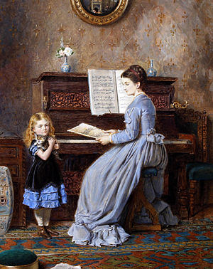 George Goodwin Kilburne (1839–1924): The Piano Lesson (1871)
