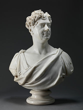 Francis Leggatt Chantrey - Marble bust of King George IV by Chantrey, 1827.