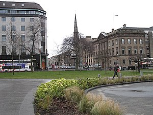 St Andrew Square, Edinburgh - View west over the square