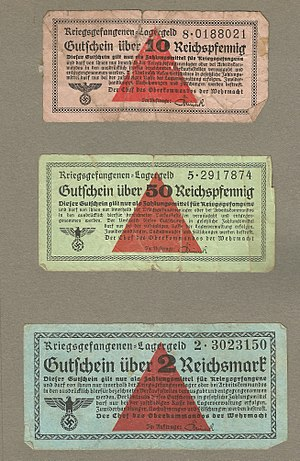 Stalag VIII-B - German WWII prison camp money (from Stalag 344/E) 1944