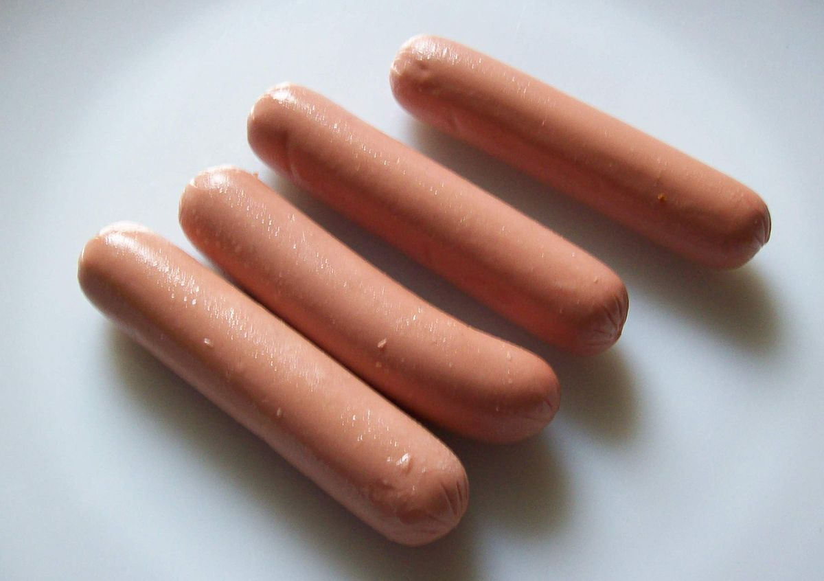 Dog Food Sausage In Red Wax