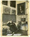 Gertrude Stein sitting on a sofa in her Paris studio - Library of Congress.tif