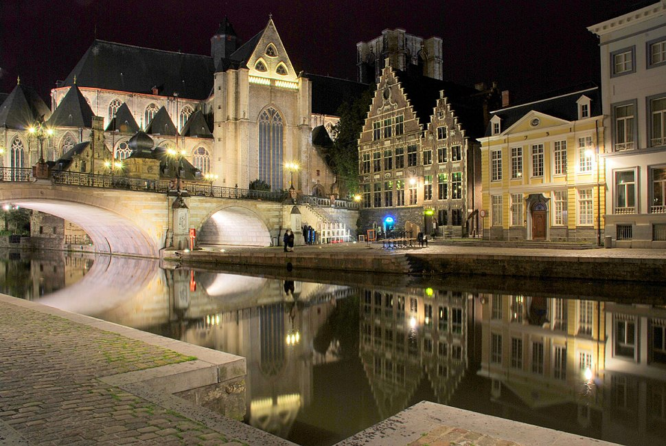Ghent canal, night