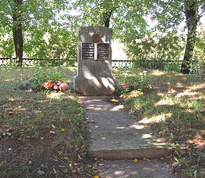 Myory - Monument erected were the massacre took place.
