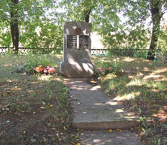 Myory - Monument erected where the massacre took place.
