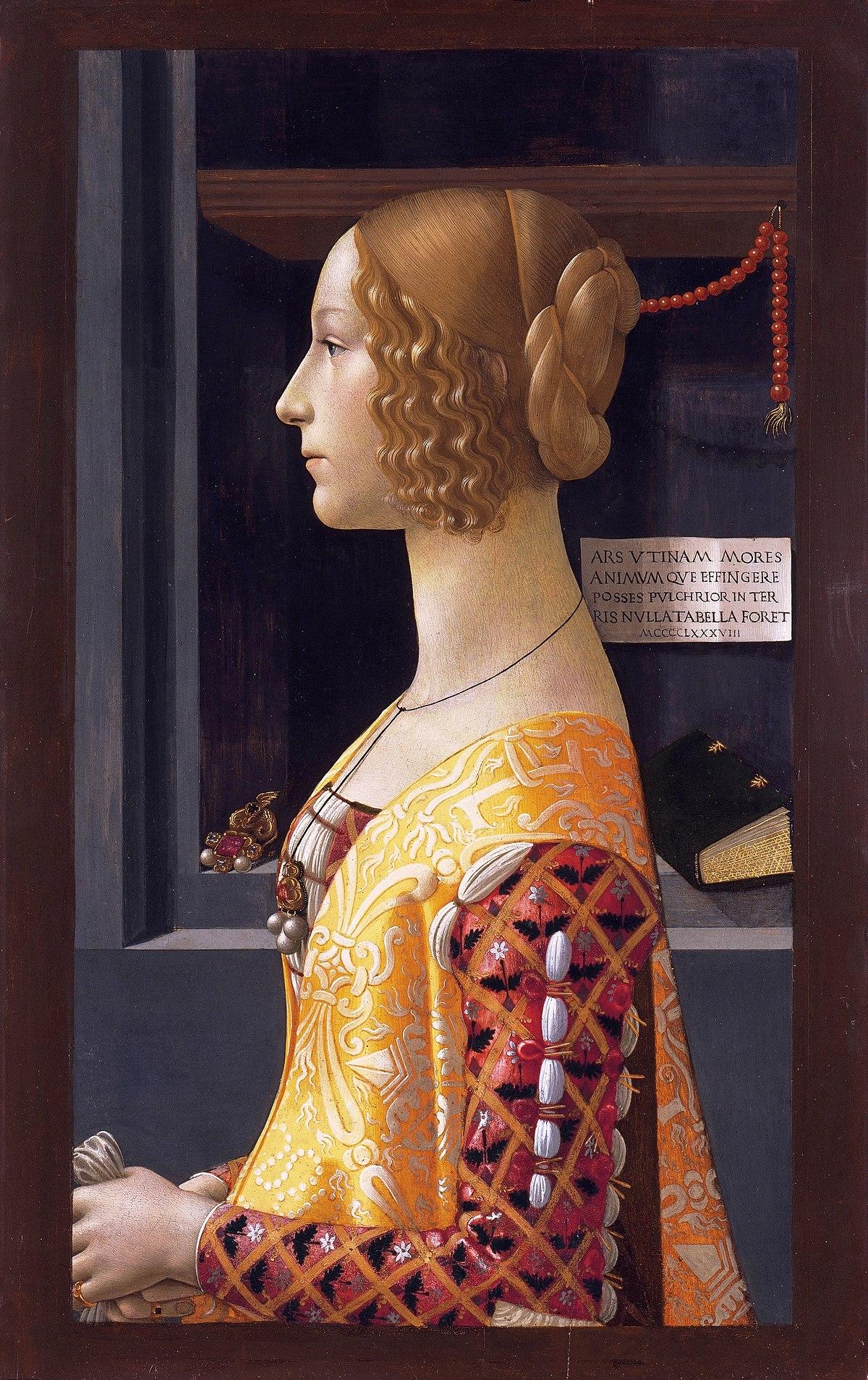 Retrato de Giovanna Tornabuoni – Wikipédia a enciclopédia livre #A87B23 1200x1907