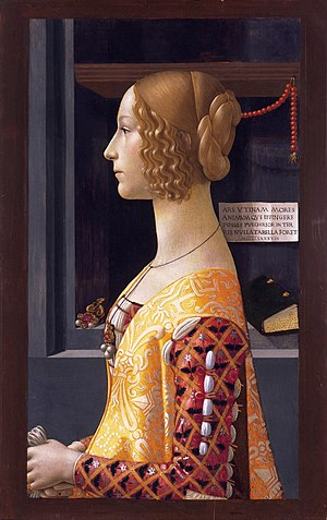 Thyssen-Bornemisza Museum - Portrait of Giovanna Tornabuoni by Domenico Ghirlandaio, 1489–90