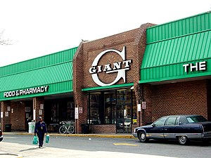 Giant-Landover - A Giant Food store in March 2006, located at 8th and O Streets NW in Washington, D.C.