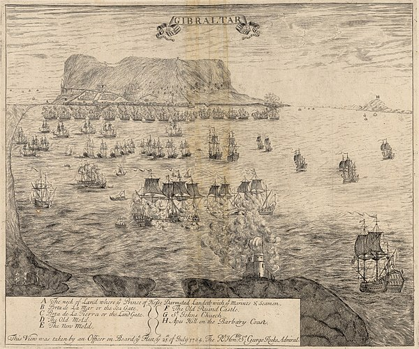 View of Gibraltar in 1704