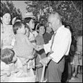 "Gila River Relocation Center, Rivers, Arizona. ""Goodbyes"" are said as friends and neighbors again s . . . - NARA - 539844.jpg"