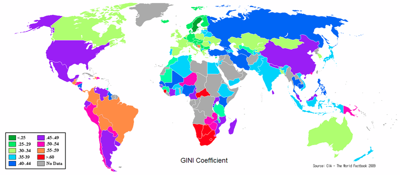 Berkas:Gini Coefficient World CIA Report 2009-1.png