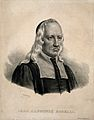 Giovanni Alphonso Borelli. Lithograph by P. R. Vignéron. Wellcome V0000671.jpg