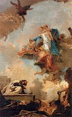 Giovanni Battista Tiepolo - Apparition of the Virgin to St Simon Stock - WGA22299.jpg