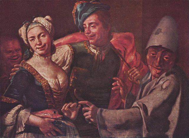 Carnaval de Giuseppe Bonito (1750). Entre