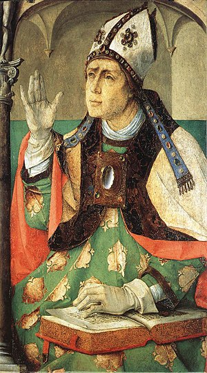Augustine of Hippo - Painting by Justus van Gent, circa 1474