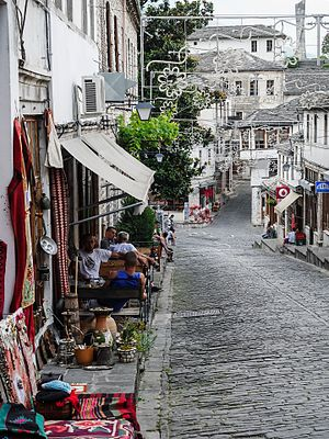 Gjirokastër - The Ottoman architecture characterize the historical city center.
