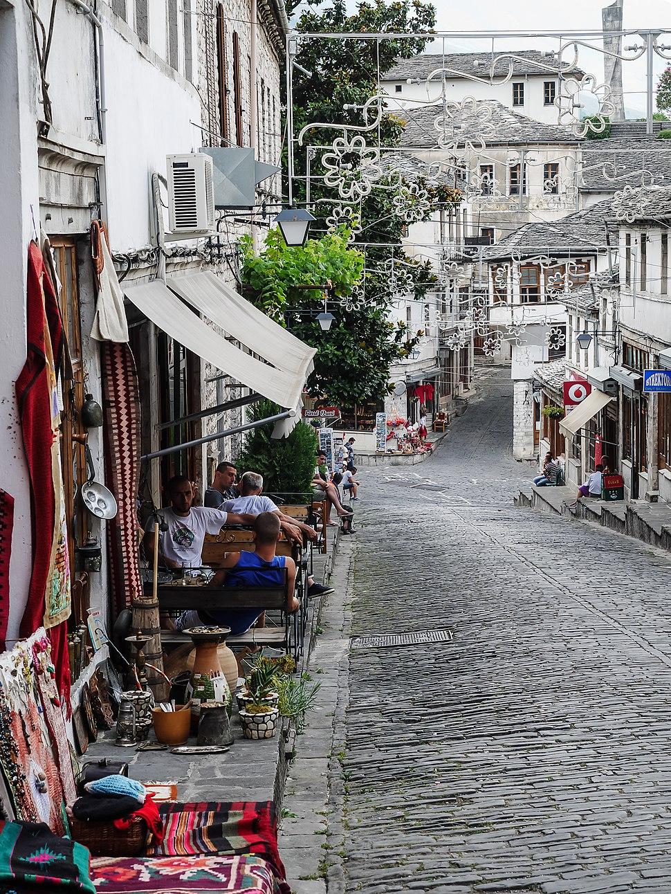 Gjirokaster 2016 Albania typical street