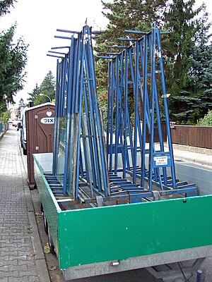 Glazing (window) - Pane transport rack