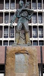 Civil war monument in Galveston, Texas