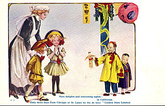 Golden State (train) - 1909 postcard ad for the train.
