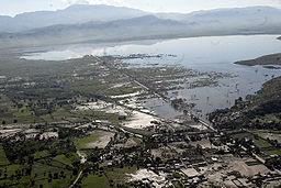 Landskaber ved Gonaïves, efter orkanen Hanna 2008.