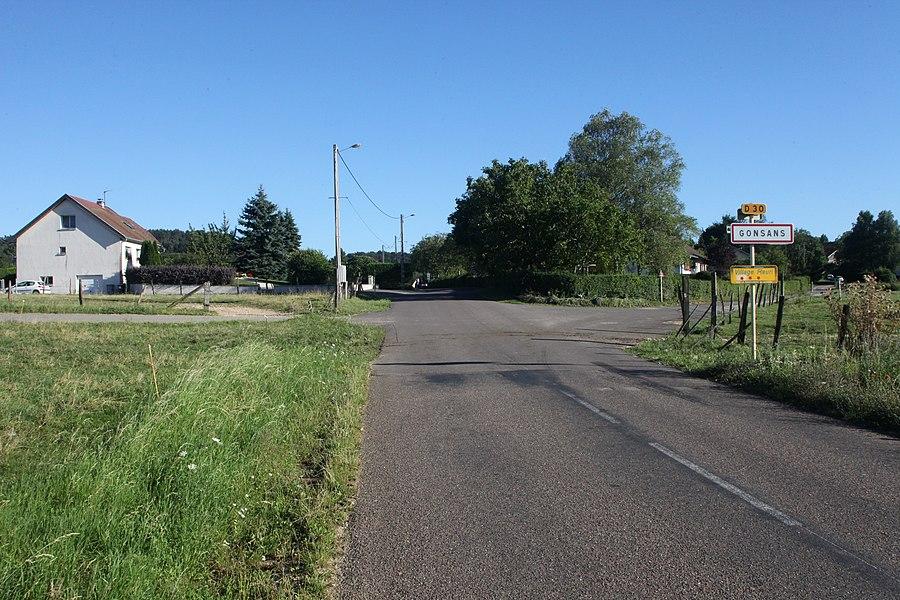 Entrée de Gonsans (Doubs).