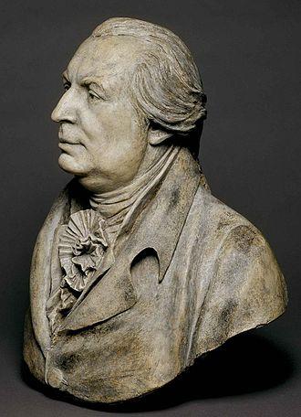 """Gouverneur Morris - """"Gouverneur Morris"""" portrait bust by Jean-Antoine Houdon, 1789, Paris."""